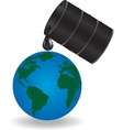 Oil is dripping on Earth vector image vector image