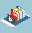 online education lesson tutorial concept books vector image vector image