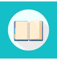 Open notebook icon vector image