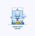 order food on line banners professional chefs vector image vector image