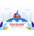 pizza delivery service advertising text poster vector image