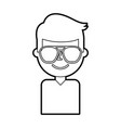 portrait man young avatar character male vector image vector image