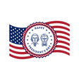 presidents day card usa flag and presidents day vector image vector image