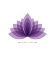 purple lotus flower life sacred geometry logo vector image vector image