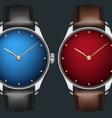 realistic wrist watch vector image