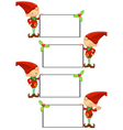 Red Elf Holding Blank Board vector image vector image