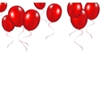 Red festive balloons background vector image vector image
