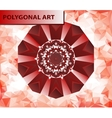 Red mandala like chakra flower design Mehndi paint vector image