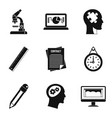 reference condition icons set simple style vector image vector image