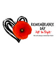 remembrance day poster design vector image vector image