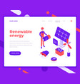 renewable energy people and interact with solar vector image