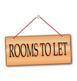 rooms to let vector image vector image