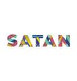 satan concept retro colorful word art