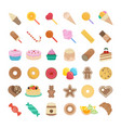 set candy vector image