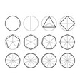 set geometric shapes polygons division vector image