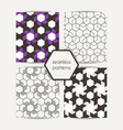 set of abstract geometric seamless graphic hipster vector image vector image