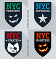 Set of athletic teams emblem and badge vector image