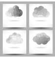 Set of backgrounds with triangular clouds vector image vector image