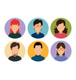 set social people media profile member vector image vector image