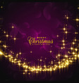 shiny sparkles for christmas festival greeting vector image vector image