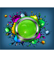 signboard color paint droplets vector image vector image