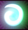 Single light blue neon letter a of