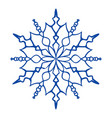 snowflake icon simple style vector image