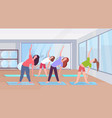 sportive women doing stretching exercises girls vector image