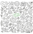 Spring doodles collection vector image vector image