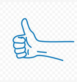 thumb up sketch line icon vector image vector image