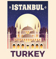 turkey travel poster vector image