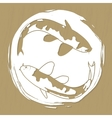 Two koi carps laser or plotter cut vector image vector image