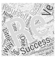 Unemployment Blues Talk To Yourself Word Cloud vector image vector image