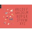 uppercase alphabet 2 vector image vector image