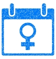 Venus Female Symbol Calendar Day Grainy Texture vector image vector image