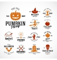 Vintage Halloween Badges or Labels vector image