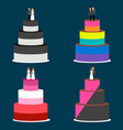 wedding cakes couples vector image vector image