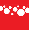 white baubles on the red background vector image