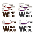 wine wood concept design template vector image vector image