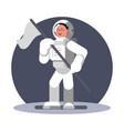 woman cosmonaut in helmet vector image vector image