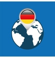 world map with pointer flag germany vector image vector image
