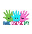 world rare disease day banner vector image