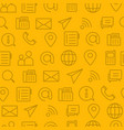 line style icons seamless pattern icons contact vector image