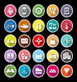 Birthday gift flat icons with long shadow vector image