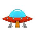 a cartoon ship UFO vector image