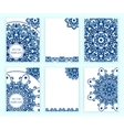 Abstract backgrounds with mandalas in gzhel style vector image vector image