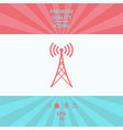 antenna icon symbol vector image vector image