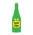 apple cider vinegar in bottle vector image