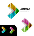 Arrow business sign design template vector image vector image