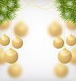 balls gold fir vector image vector image